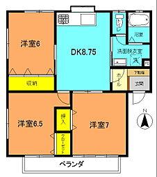 メゾン福井A[101号室]の間取り
