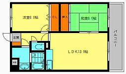 キャッスル川久保[2階]の間取り