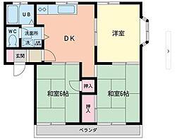 アパートメントヒロ[201号室]の間取り