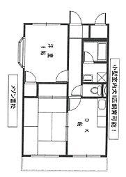 メゾン富松[301号室]の間取り