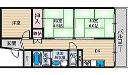 シャトー富士[10階]の間取り
