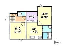 トリアスC棟[1階]の間取り