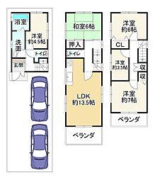 近鉄南大阪線 恵我ノ荘駅 バス13分 西多治井下車 徒歩9分 5LDKの間取り