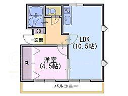 メゾンド ポエジー[2階]の間取り