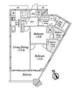 45階・2LDKの間取り図