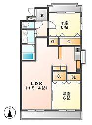 ホワイトフォーラムII[2階]の間取り