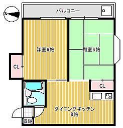 ミキハウス[4階]の間取り