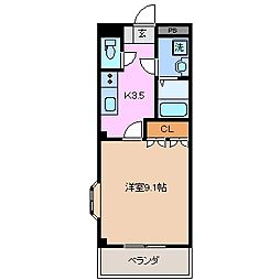 三重県鈴鹿市高岡台3丁目の賃貸アパートの間取り