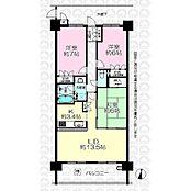LDKは和室まで広げれば22.9帖の大空間になります。