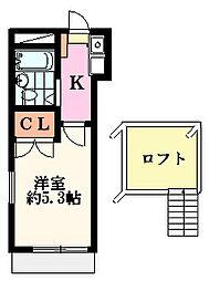 メゾンFUJI(桜ヶ丘)1階Fの間取り画像