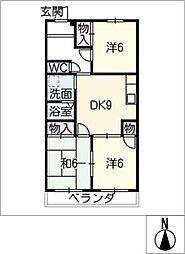マンション和楽[3階]の間取り