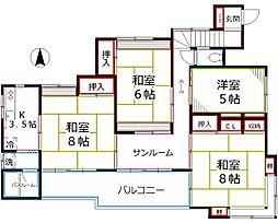 [一戸建] 東京都小平市学園東町 の賃貸【/】の間取り