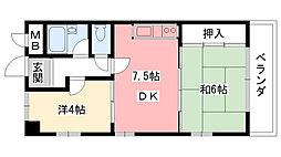 香風ハイツ[2階]の間取り