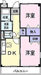 埼玉県熊谷市肥塚の賃貸マンションの間取り