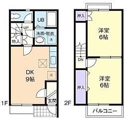 [テラスハウス] 神奈川県厚木市及川1丁目 の賃貸【神奈川県/厚木市】の間取り