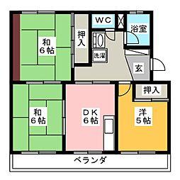 ファミリー久保山2[3階]の間取り