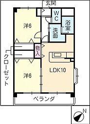 デュークK[3階]の間取り