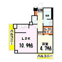 アーバンレックス西新井III[3階]の間取り
