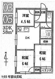 LOCO武庫之荘[203号室]の間取り