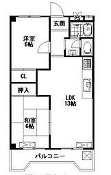 桜ケ丘レジデンス[2階]の間取り
