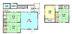 [一戸建] 兵庫県赤穂市清水町 の賃貸【/】の間取り