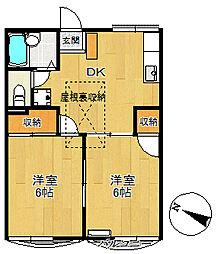 トラッドハウスM[203号室号室]の間取り