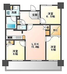 ライオンズマンション幕張セントパークス[2階]の間取り