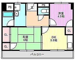 グリーンプラザ[5階]の間取り