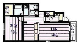 クラール ブリーゼA棟[1階]の間取り