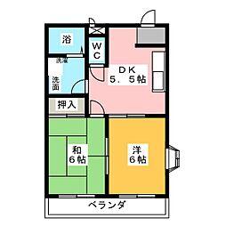 ドミールKOZAKI[2階]の間取り