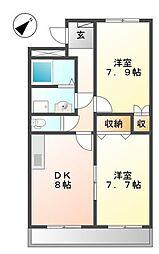 兵庫県姫路市書写の賃貸マンションの間取り