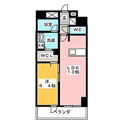 ロイジェント新栄III[4階]の間取り