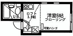 神奈川県川崎市川崎区東門前2丁目の賃貸アパートの間取り