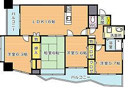 コーポランド青山(分譲賃貸)[8階]の間取り