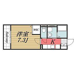 千葉県成田市公津の杜6丁目の賃貸マンションの間取り