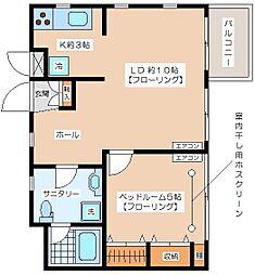 [テラスハウス] 東京都世田谷区代田3丁目 の賃貸【/】の間取り