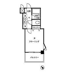 クレール中台[2階]の間取り