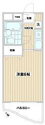 パルコート呉竹[3階]の間取り