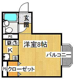 ヴィラ21[3階]の間取り