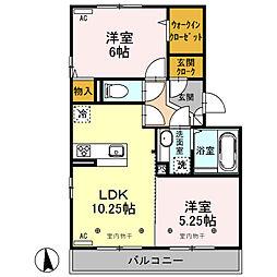 (仮)D-roomオッツ川原町[105号室]の間取り