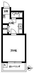 桜台OMマンション[202号室]の間取り