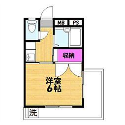 田所マンション[301号室]の間取り