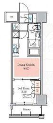 JR総武線 浅草橋駅 徒歩7分の賃貸マンション 6階1DKの間取り