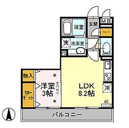 エタルナ倉賀野[305号室]の間取り