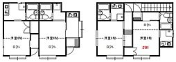 南台アパート[2階]の間取り