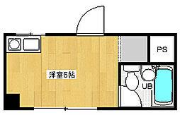 菅栄町レディースマンション[2階]の間取り