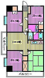 キャニオンヴィラ高桑[5階]の間取り