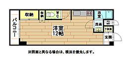 リビオン萩崎[5階]の間取り