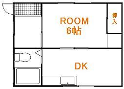 東京都板橋区南町の賃貸アパートの間取り