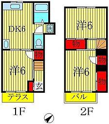 [テラスハウス] 千葉県柏市戸張 の賃貸【/】の間取り